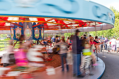 City of Saskatoon offers free rides (normally $1 per ride) on the last day of operation of the Kinsmen Park train and carousel, Labour Day, Monday, September 3, 2012. The City is decommissioning the miniature train and carousel for a 25-year multimillion-dollar plan to renovate the 46-acre Kinsmen Park. A ferris wheel was removed several years ago. On March 5, 2013, the City of Saskatoon announced that the 38-year-old train had been sold to Country Fun Farms, a 70-acre theme farm 10 km east of Prince Albert. (Darrell Noakes)