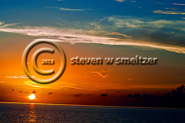 Blazing Lights and Color at Sunset Grand Cayman (Steven Smeltzer)