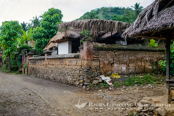 Bali, Karangasem, Tenganan. A traditional Bali Aga village. A house in Tenganan. (Photo Bjorn Grotting)