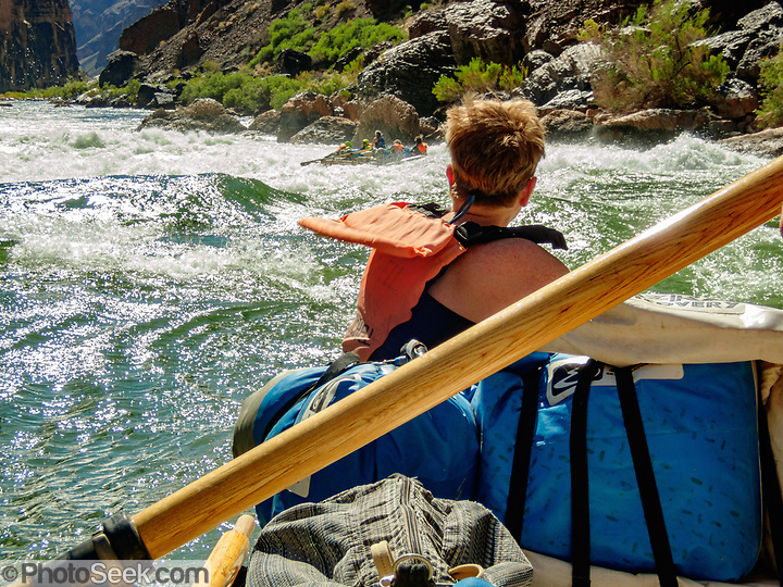 Rafting through Lava Falls Rapid at Colorado River Mile 179.7. Day 13 of 16 days rafting 226 miles down the Colorado River in Grand Canyon National Park, Arizona, USA. (© Tom Dempsey / PhotoSeek.com)