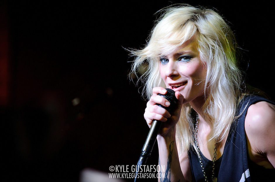 AUSTIN, TX - March 17th: Maja Ivarsson of The Sounds performs at the Mog showcase at The Phoenix as part of the 2011 South by Southwest Festival. (Photo by Kyle Gustafson) (Kyle Gustafson)