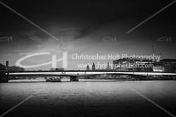 London Bridge at night in black and white ((c) 2011 Christopher Holt LTD London UK)