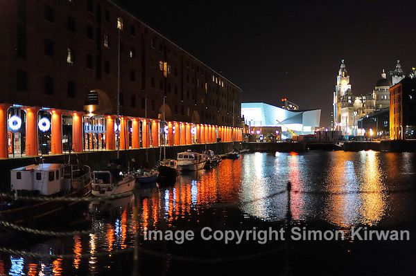 Albert Dock, Liver Building & Museum of Liverpool by Night