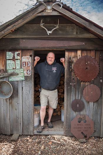 Cabinet maker Ray Smith, Cloverdale, CA (Clark James Mishler)