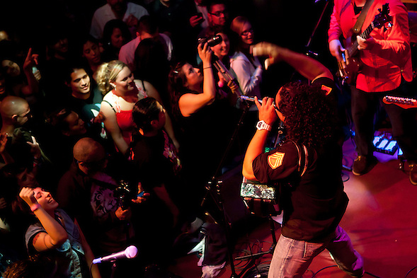 Cumbia Tokeson performed at Oakland's The New Parish in May 2011 with headliner Bomba Estereo. (bryan farley)