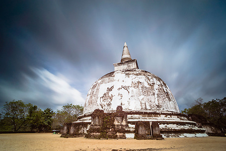 Kiri Vihara in the Ancient City of Polonnaruwa, Sri Lanka, Asia. This is a photo of Kiri Vihara, a Dagoba in the Ancient City of Polonnaruwa in the 'sultural triangle' of Sri Lanka, Asia. Kiri Vihara is one of the best preserved Dagobas in the Ancient City of Polonnaruwa.