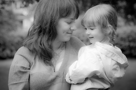 Andrea Cummings and her daughter, Adalyn, South Addition neighborhood, Anchorage (Clark James Mishler)