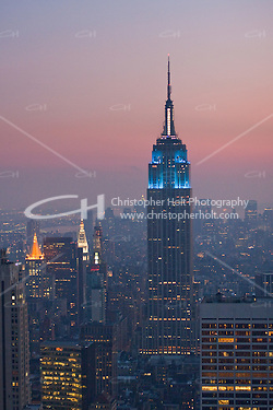 Night view from Top of the Rock, 30 Rockefeller Plaza in New York City October 2008 (Christopher Holt LTD - LondonUK/Image by Christopher Holt - www.christopherholt.com)