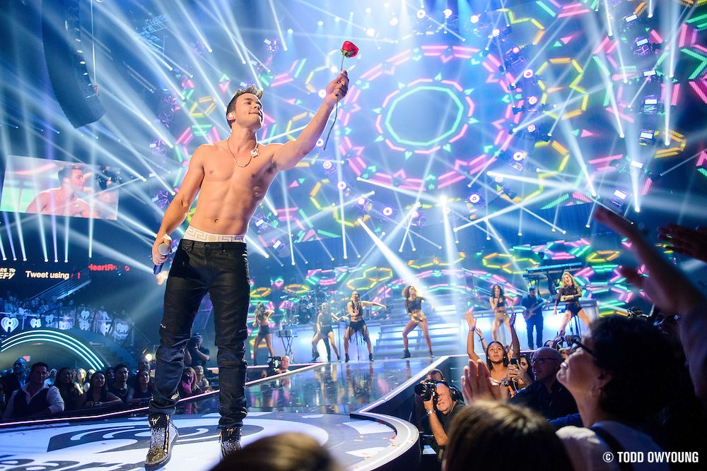 Prince Royce performing at the iHeartRadio Music Festival in Las Vegas on September 19, 2015. (Todd Owyoung)
