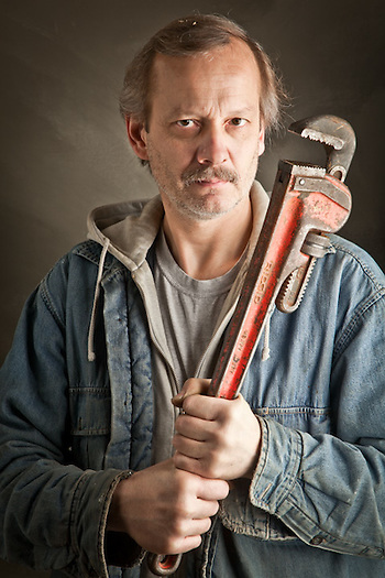 Plumping contractor, John Przeczewski, Anchorage (Clark James Mishler)
