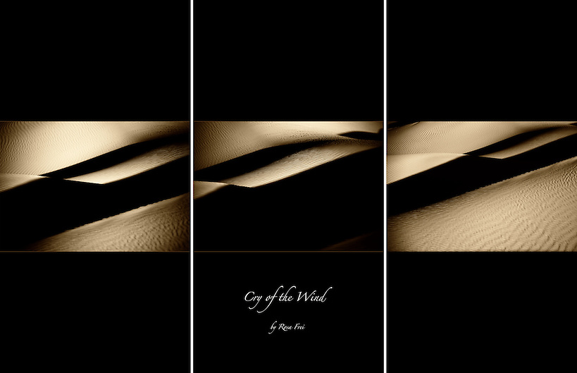 A fine art earth abstract triptych picture. (Rosa Frei)