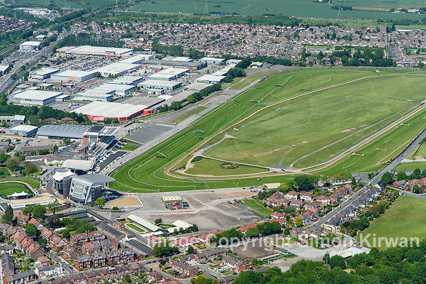 Aintree Racecourse, Liverpool, home of the Grand National, from the Air. Aerial Photography By Simon Kirwan www.the-lightbox.com