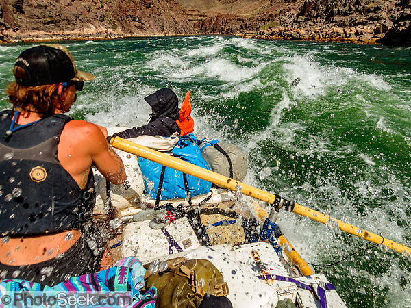Rafting the Inner Gorge of Grand Canyon between River Miles 97-108. Day 7 of 16 days rafting 226 miles down the Colorado River in Grand Canyon National Park, Arizona, USA. (© Tom Dempsey / PhotoSeek.com)