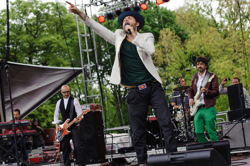 Photos of Lorenzo Cherubini AKA Jovanotti performing live at The Great GoogaMooga Festival at Prospect Park in Brooklyn, NY. May 18, 2013. Copyright © 2013 Matthew Eisman. All Rights Reserved (Photo by Matthew Eisman/WireImage)