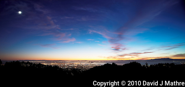 Sunset view of San Francisco and Oakland from Berkeley Hills (David J Mathre)