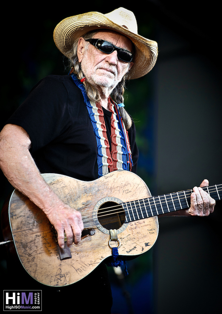 Willie Nelson plays Jazz Fest 2011 in New Orleans, LA on day 5. (Golden G. Richard III)