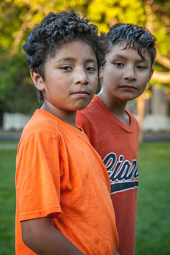 Brothers Joshua (8) and Lemuel (9) Herrera, Calistoga (Clark James Mishler)