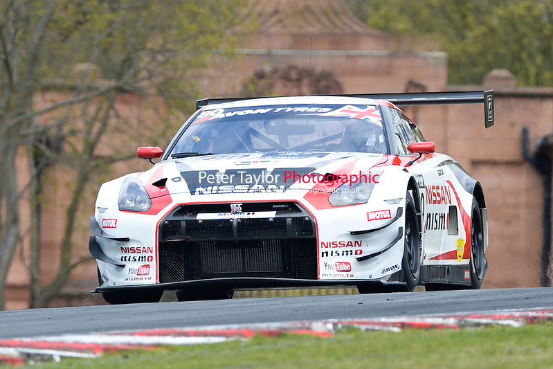 #80 Chris Hoy/Alex Buncombe - Nissan GT Academy Team RJN, Nissan GT-R Nismo GT3 during second practice for the Avon Tyers British GT Championship at Oulton Park, Little Budworth, Cheshire, United Kingdom. April 19 2014. World Copyright Peter Taylor/PSP. Copy of publication required for printed pictures.  Every used picture is fee-liable. http://archive.petertaylor-photographic.co.uk (Peter Taylor/PSP)