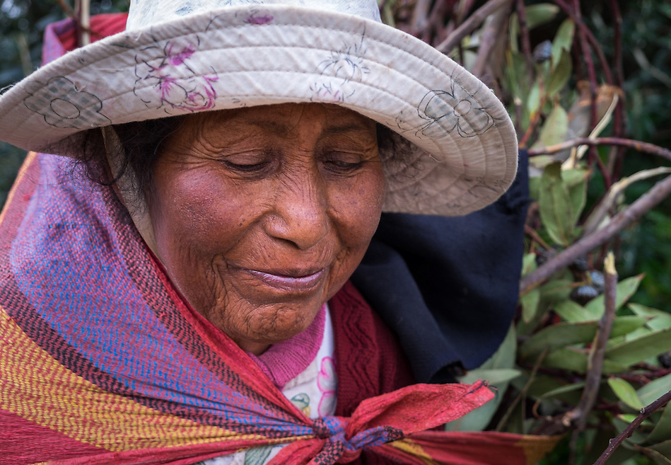 AMANTANI ISLAND, PERU - CIRCA APRIL 2014: Portrait of old woman from Amantani Island in Peru (Daniel Korzeniewski)