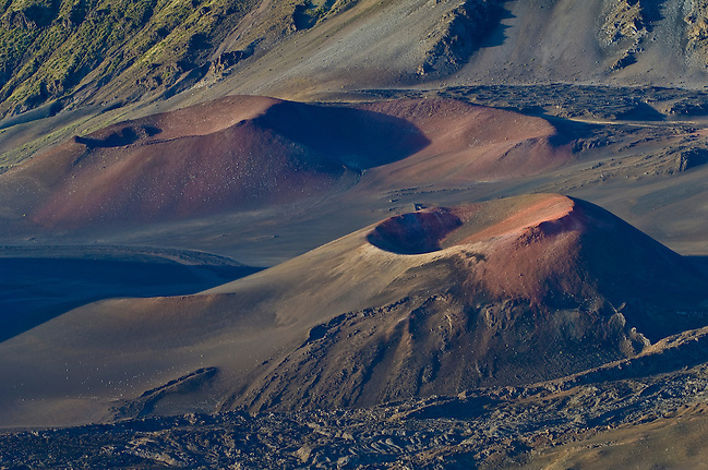 Pu'u o Pele and Pu'u of Maui cinder cones in Haleakala Crater; Haleakala National Park, Maui, Hawaii. (Greg Vaughn/© Greg Vaughn)