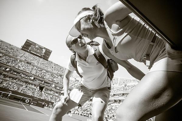 Peng Shuai, 2014 U.S. Open Women's Semifinal. Photographed at the Billie Jean King National Tennis Center in Queens, NY, USA 9/5/2014. © 2014 Darren Carroll (Darren Carroll)