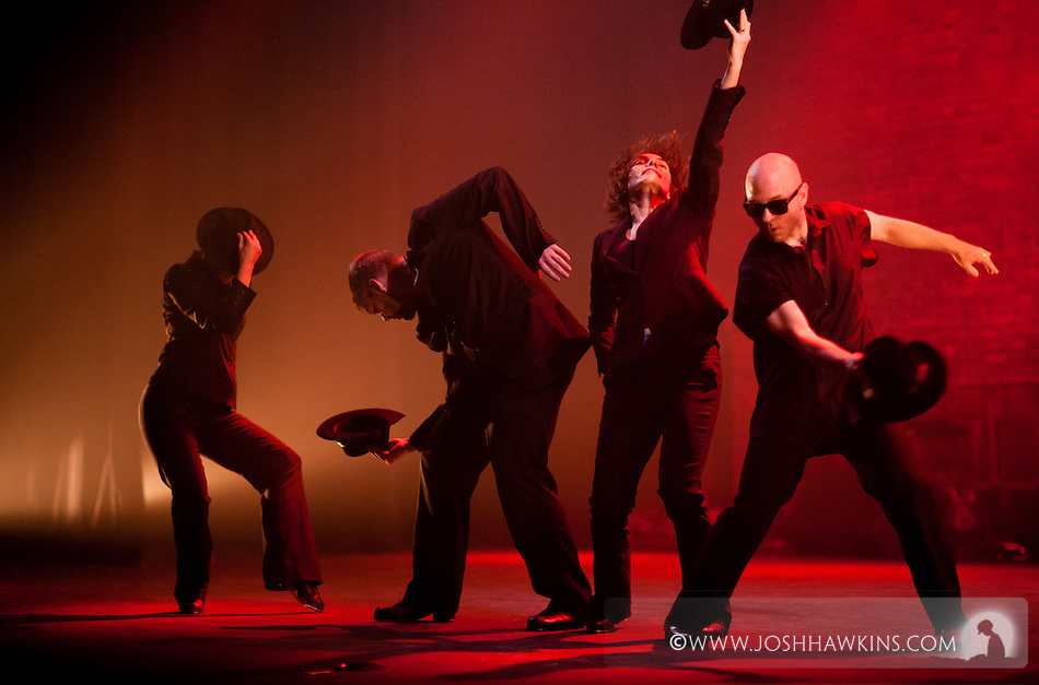 "Chicago Tap Theatre's production of Totally Tapular at the Athenaeum Theater in Chicago...""Bombdigity in Black"".Dancers: Kirsten Williams, Rich Ashworth, Jennifer Pfaff Yonally, Mark Yonally.Choreography by: Harrison McEldowny (Josh Hawkins)"