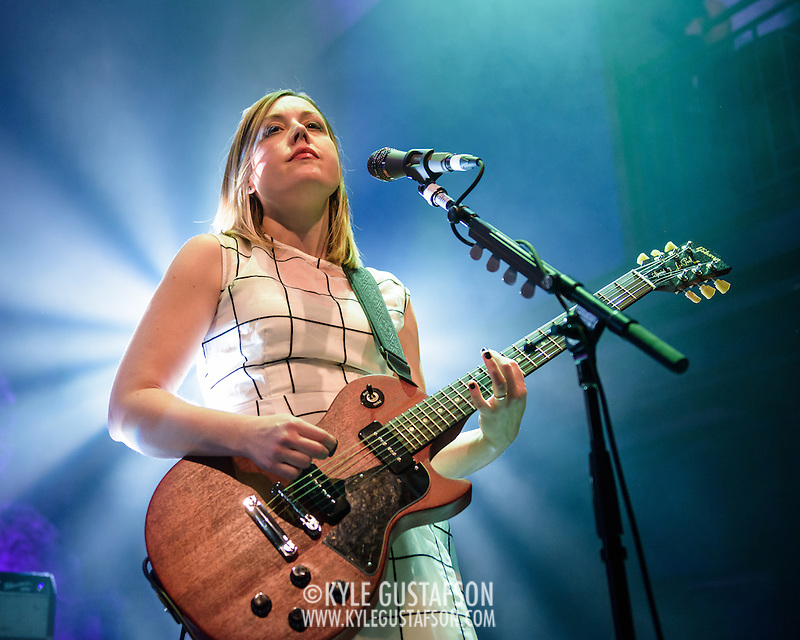WASHINGTON, DC - February 24, 2015 - Corin Tucker of Sleater-Kinney performs during the first of two sold-out shows at the 9:30 Club in Washington, D.C. The band, on hiatus since 2006, reunited late in 2014 and recently released No Cities to Love, their first album in almost 10 years. (Photo by Kyle Gustafson / For The Washington Post) (Kyle Gustafson/For The Washington Post)