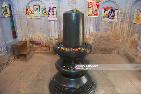 PUTHIA, BANGLADESH - FEBRUARY 16, 2014: Exterior of the Lingam in Shiva Temple in Puthia, Bangladesh. (Dmitry Chulov)