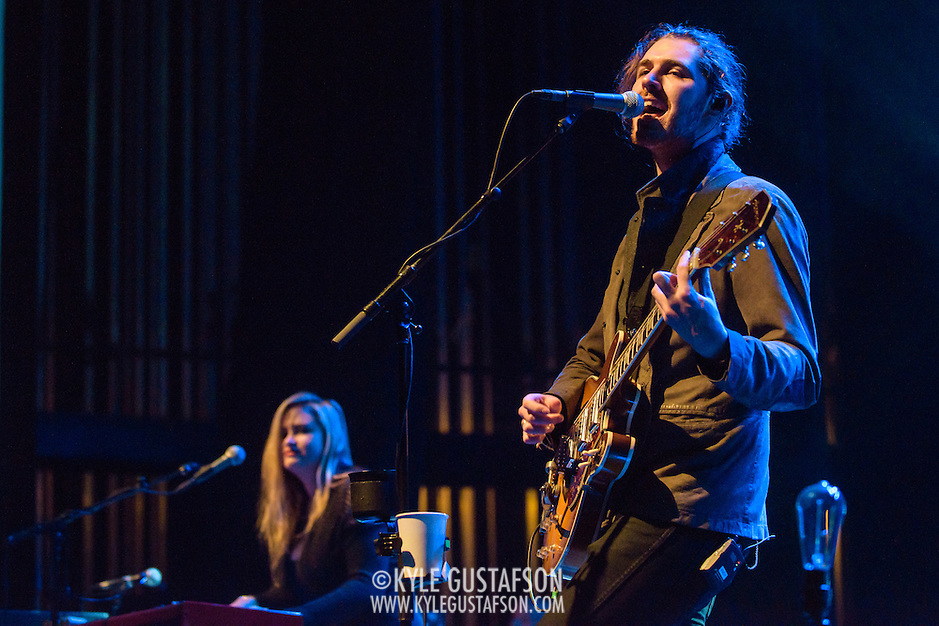 "WASHINGTON, DC - March 7, 2015 - Hozier (right) performs at the Lincoln Theater in Washington, D.C. His hit song ""Take Me To Church"" was nominated for Song of the Year at the 2015 Grammys. (Photo by Kyle Gustafson / For The Washington Post) (Kyle Gustafson/For The Washington Post)"