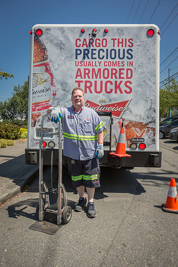 """Ive been in the beer business 25 years...I'm a people person and everyone is happy to see me.  Unfortunately, I'm not much of a beer drinker.""  -Delivery driver Michael McCoy, Seattle, WA (Clark James Mishler)"