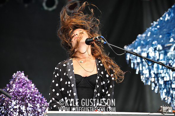 Beach House, Victoria Legrand and Alex Scally, perform during Day 3 of the Pitchfork Music Festival in Chicago, IL. (Photo by Kyle Gustafson)
