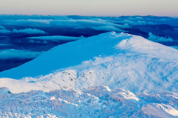 Mount Jefferson at dawn as seen from the summit of New Hampshire's Mount Washington. (Jerry Monkman)