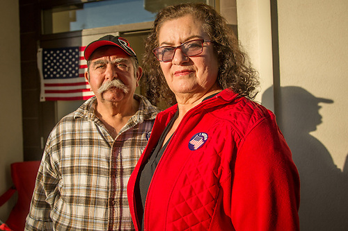"""We have voted in Calistoga for the past 24 years."" -Augustin and Angelina Vega outside the polling place in downtown Calistoga (Clark James Mishler)"