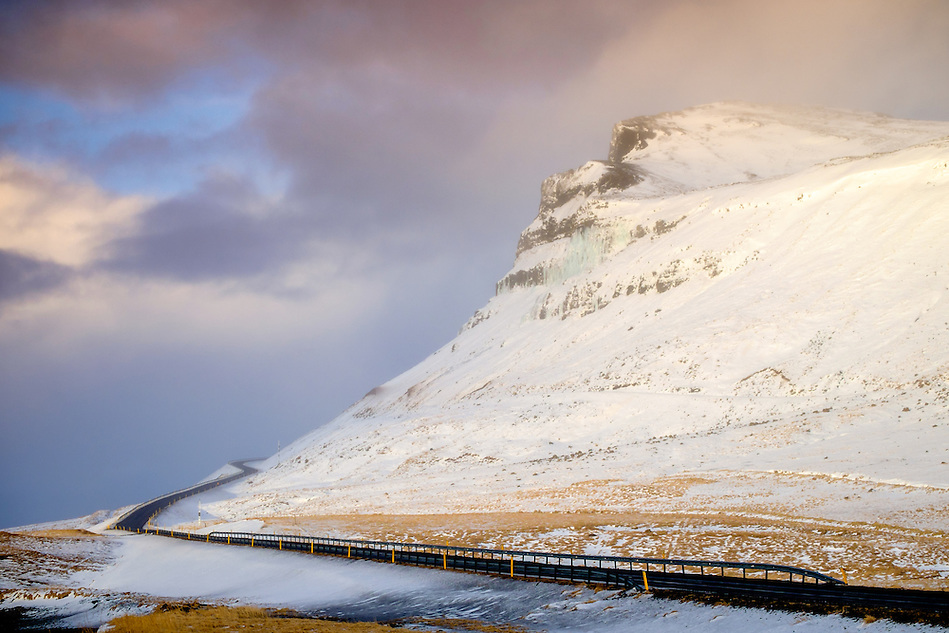 ICELAND - CIRCA MARCH 2015: Winding Route 1 over the Snaefellsness Peninsula in Iceland. (Daniel Korzeniewski)