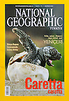 National Geographic magazine Turkey No. 07/2010 prints Solvin&#039;s images of the Loggerhead seaturtles (Caretta caretta) as cover story (Solvin Zankl)