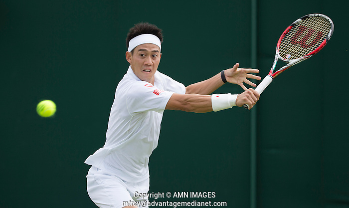 KEI NISHIKORI (JPN) The Championships Wimbledon 2014 - The All England Lawn Tennis Club -  London - UK -  ATP - ITF - WTA-2014  - Grand Slam - Great Britain -  24th June 2014.  © AMN IMAGES (FREY/FREY- AMN Images)