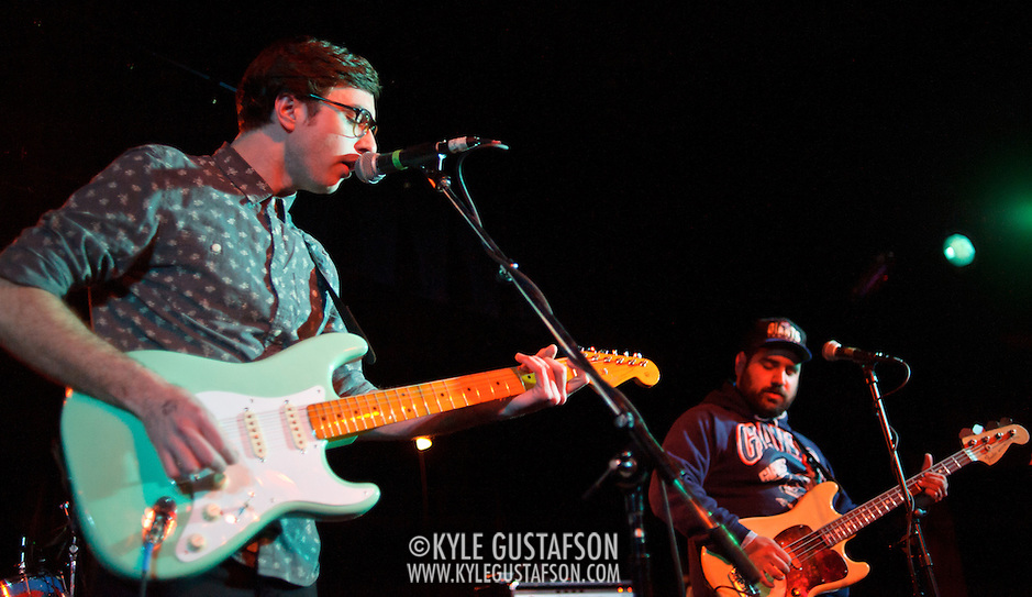 WASHINGTON, DC - January 22nd, 2012 - Martin Courtney and Alex Bleeker of Real Estate perform at the Black Cat in Washington, D.C. The band received critical acclaim for their sophomore album, Days, released in October 2011. (Photo by Kyle Gustafson/For The Washington Post) (Kyle Gustafson/FTWP)