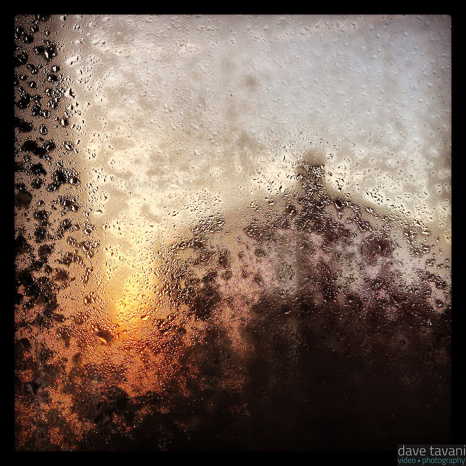 The morning sun starts to melt the frost on our back window on December 14, 2012. (Dave Tavani)