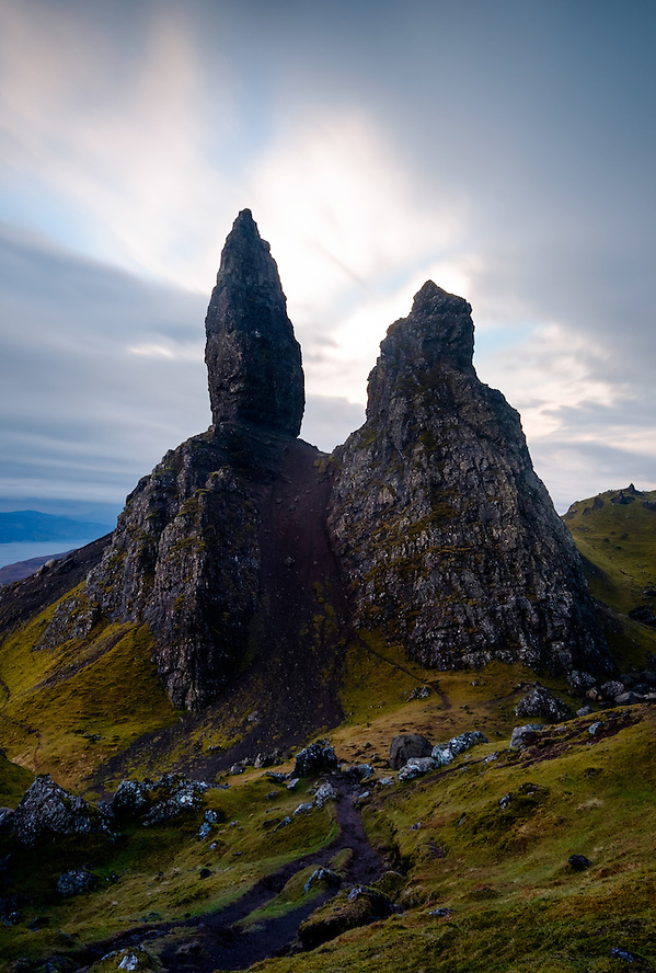 SCOTLAND - CIRCA APRIL 2016: The Old Man of Storr, a rocky hill on the Trotternish peninsula of the Isle of Skye in Scotland. (Daniel Korzeniewski)