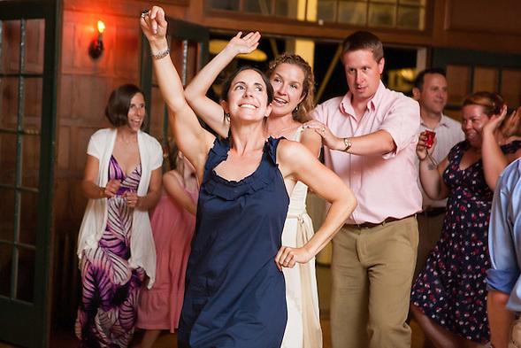 Friends and family dance the night away at breidi and Marshall's wedding in Wawona, CA on June 16, 2012. (Sha Sha Chu)