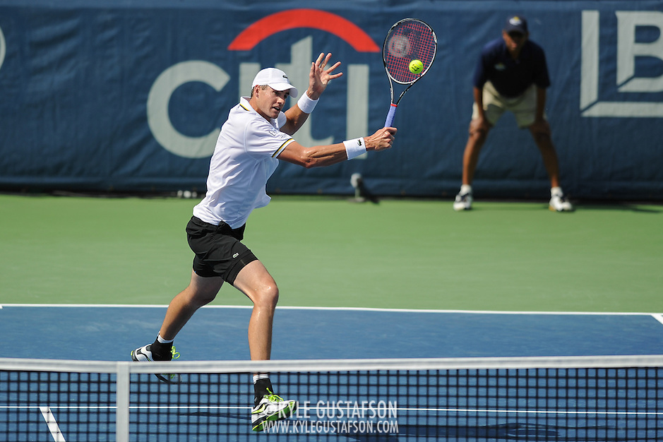 Washington DC - August 3rd, 2013 - John Isner at the 2013 CitiOpen Tennis Tournament in Washington, D.C. (Kyle Gustafson/Photo by Kyle Gustafson)