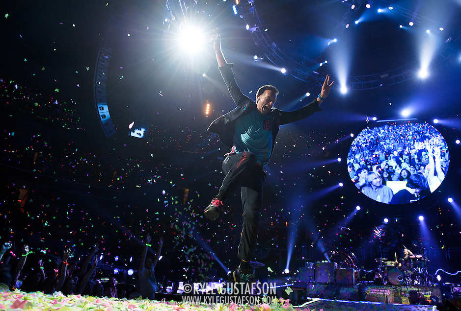 WASHINGTON, DC - July 9th, 2012 - Chris Martin of Coldplay performs at the Verizon Center in Washington, D.C. The band's 2011 album, Mylo Xyloto, reached number one in thirty countries. (Photo by Kyle Gustafson/For The Washington Post) (Kyle Gustafson/For The Washington Post)