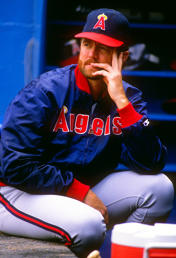 MILWAUKEE - 1989:  Bert Blyleven of the California Angels looks on during an MLB game against the Milwaukee Brewers at County Stadium in Milwaukee, Wisconsin.  Blyleven played for the Angels from 1989-1992.  (Photo by Ron Vesely) (Ron Vesely)