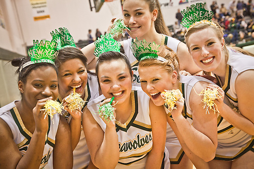 UAA Seawolf basketball cheerleaders, Anchorage (Clark James Mishler)