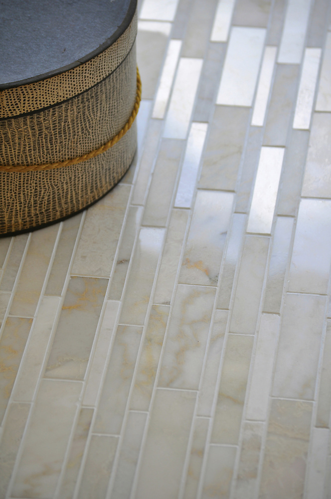 Del Greco shown in Cloud Nine honed and polished mixed (New Ravenna Mosaics)