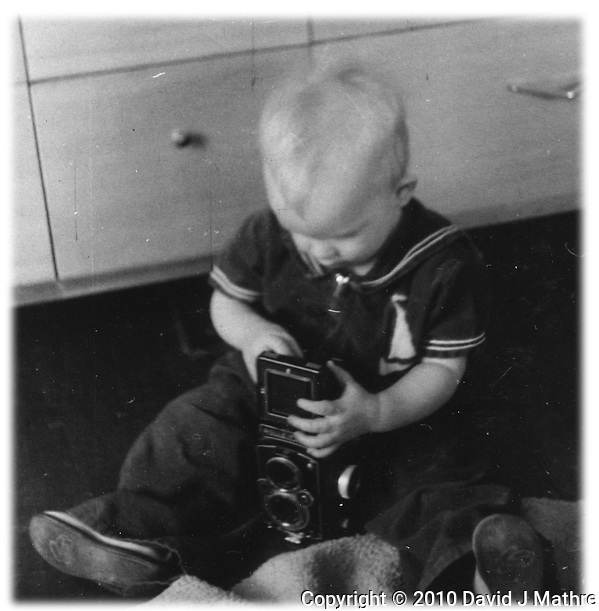 Learning to Use a Rolleiflex Camera at a Young Age. (David J Mathre)