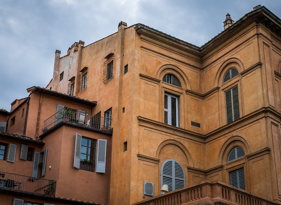 FLORENCE, ITALY - CIRCA MAY 2015:  Old apartment buildings in Florence. (Daniel Korzeniewski)