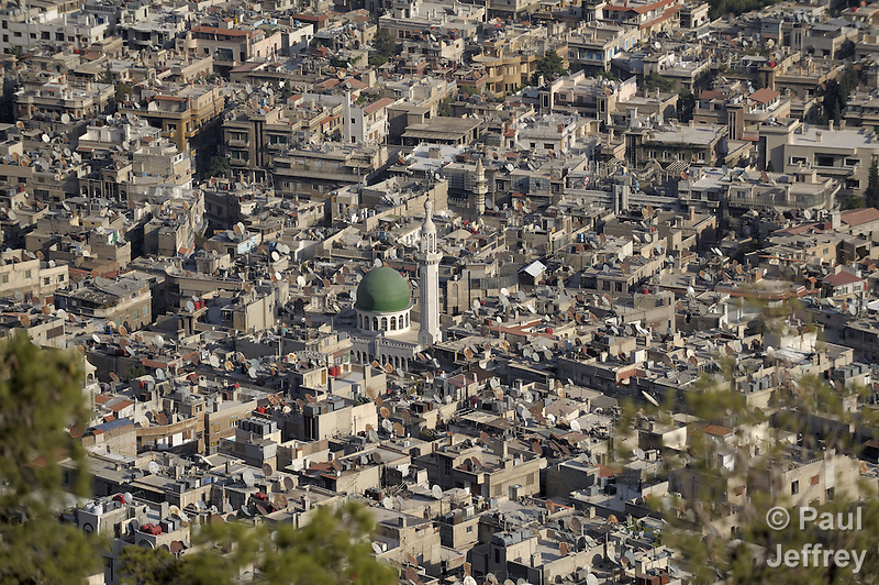 A view of part of the downtown area of Damascus, Syria. (Paul Jeffrey)