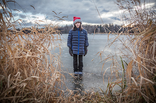 Ten year old Ani Nosek, Westchester Lagoon, Anchorage  peter.nosek@chenega.com (© Clark James Mishler)