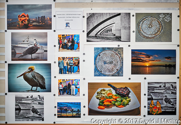 Work in Progress. Wall hanging system for prints being prototyped in my laundry room. Image taken with a Fuji X-T2 camera and 23 mm f/1.4 lens (ISO 200, 23 mm, f/1.4, 1/125 sec) pop-up flash bounced off the ceiling. (David J Mathre)